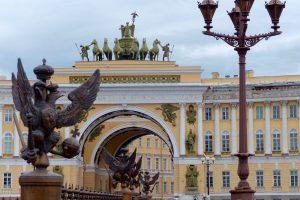 In St. Petersburg auf der Reise mit der Transsibirischen Eisenbahn