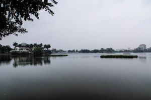 View of the west lake in Hanoi, Vietnam
