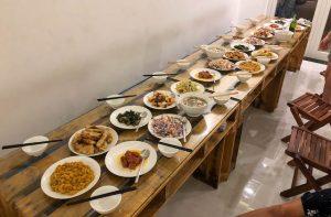 Essen im Hostel