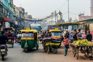 Delhi Straßen, Infos zum Indien Visum Kosten