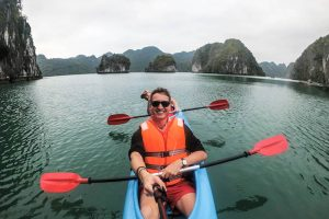 Halong Bay tour when backpacking Vietnam