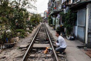 Train tracks in Hanoi