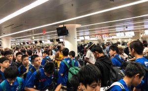 Menschenmenge bei der Einreise nach Kanada