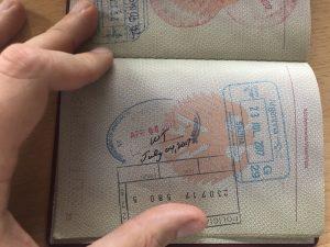 Stempel im Reisepass vom USA ESTA Visum
