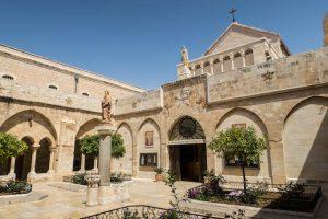 Blick auf die Geburtskirche