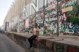 Bemalte Mauer in Bethlehem