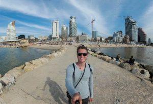Strand Promenade in Tel Aviv Israel