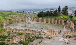 Blick auf Jerash Jordanien