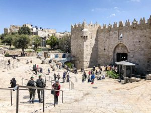 Damaskustor außerhalb der Jerusalem Altstadt
