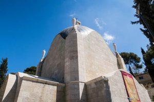 Jerusalem Sehenswürdigkeit von außen, die Dominus Flevit Kirche