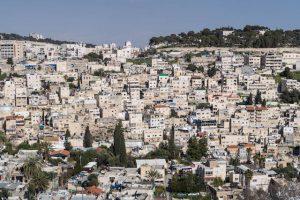 Häuser im Berg bei Jerusalem