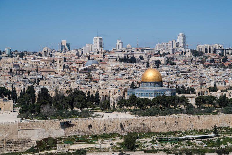 Blick auf Felsendom eine der Jerusalem Sehenswürdigkeiten