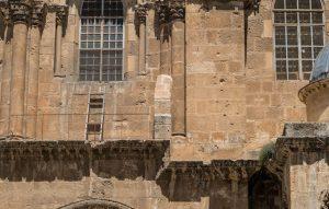 Leiter an der Grabeskirche außen