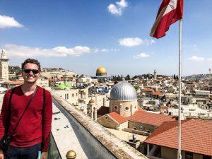 Sehenswerter Ausblick auf Jerusalem vom österreichischen Hospiz