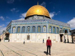 Tempelberg als berühmte Jerusalem Attraktion mit Felsendom