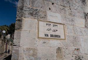 Schild an der Via Dolorosa