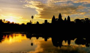 Kambodscha Backpacking Sonnenaufgang Angkor Wat