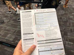 Das Einreiseformular für Kanada