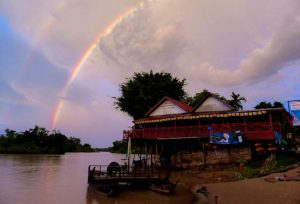 Regenbogen am Mekong