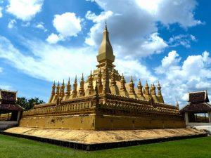 Berühmteste Sehenswürdigkeit in Vientiane in Laos ist die Stupa
