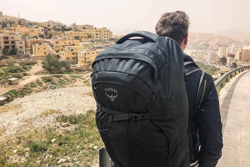 Mit dem Osprey Farpoint 80 in Jordanien