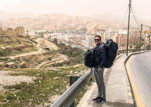 In Jordanien zum Test des Osprey Farpoint 80 Rucksacks