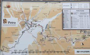 Karte von Petra