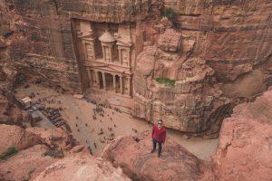 Aussicht auf Petra Jordanien