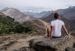 Reise nach Pakistan Ausblick Berge