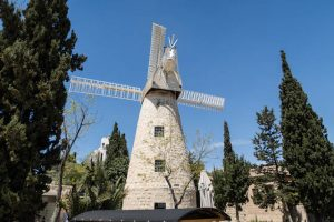 Windmühle als Attraktion in Jerusalem