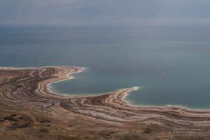 Aussicht auf Küste des Toten Meeres