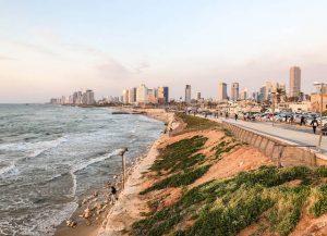 Tel Aviv Sehenswürdigkeiten Blick auf den Sonnenuntergang