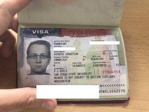 Visum für die USA im Reisepass