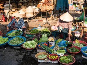 Vendors in a market