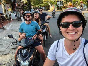 Exploring the country by scooter when backpacking Vietnam