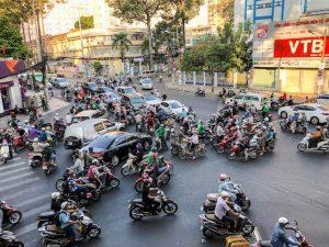 Verkehrschaos in Saigon als Teil der Vietnam Reisetipps