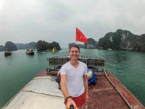 Selfie in Halong Vietnam