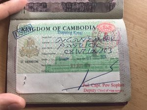 Das fertige Visum für Kambodscha!