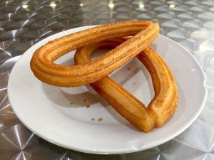 Churros auf einem Teller