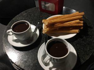 Essen und trinken in der Chocolateria