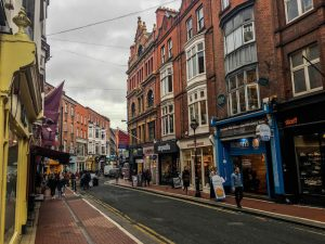 Backpacking Dublin streets