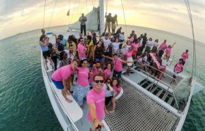 Selfie auf dem Boot in der Karibik