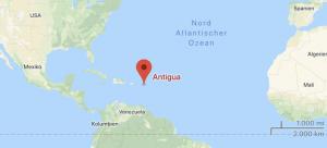 Antigua auf Weltkarte