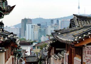 Im Hanok Village, einer Attraktion in Seoul