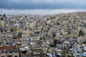View of Amman while backpacking Jordan