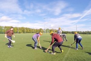 playing hurling in dublin