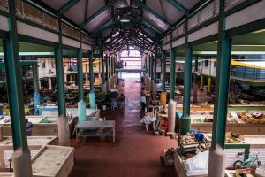 Leere Markthalle in St. John's Antigua