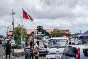 st. John's Antigua Markt von außen
