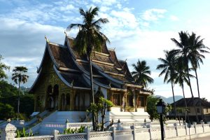 Tempel beim Laos Backpacking
