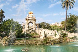 Barcelona Tipps: Bild vom Park mit Brunnen